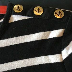 Ralph Lauren Long Sleeve Light Sweater. Small. B/W